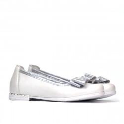 Pantofi copii 174 alb sidef combinat
