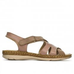 Sandale dama 5062 capucino combinat