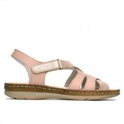 Sandale dama 5062 pudra combinat
