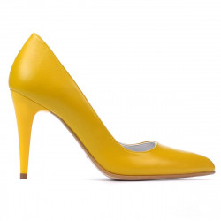 Women stylish, elegant shoes 1246 yellow