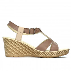 Women sandals 5065 cappuccino combined