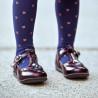 Pantofi copii mici 63c lac bordo lifestyle