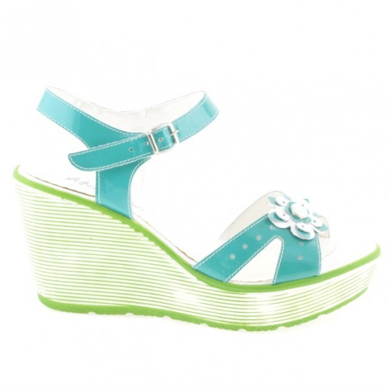 Women sandals 5006 patent green