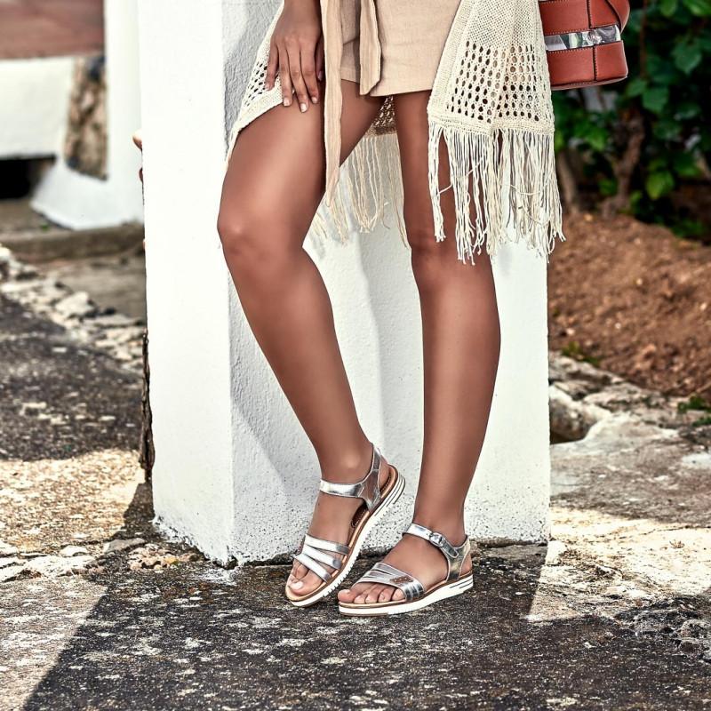 Sandale dama 5067 argintiu lifestyle