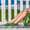 Mocasini dama 688 verde crud photo