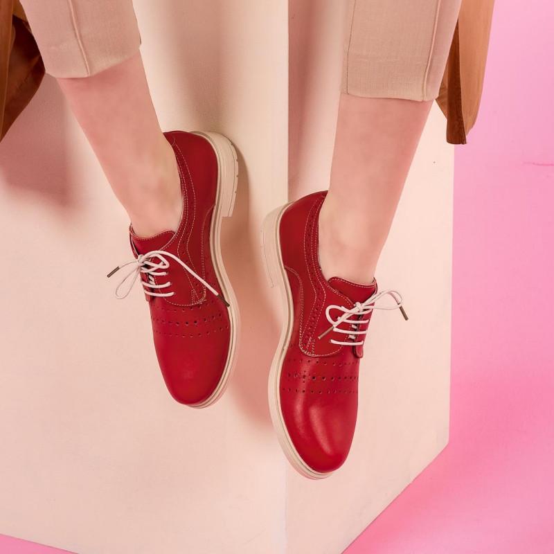 Pantofi casual dama 6001 rosu lifestyle