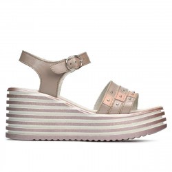 Women sandals 5064 cappuccino pearl