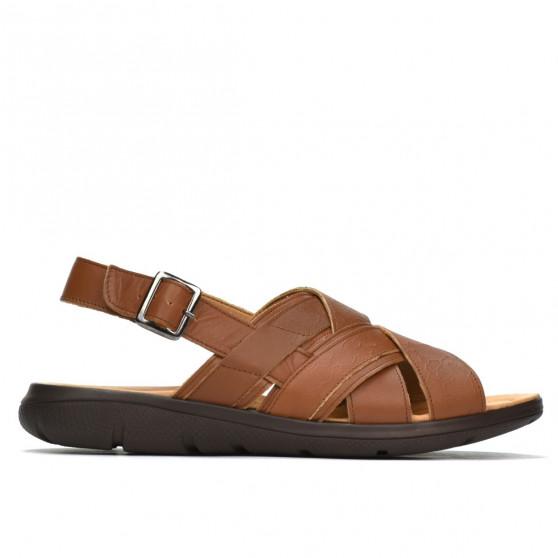 Sandale barbati 346 maro