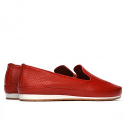 Women loafers, moccasins 6013 red