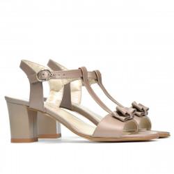 Women sandals 1257 cappuccino pearl
