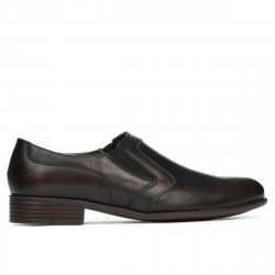 Men stylish, elegant, casual shoes 903 a brown