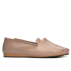Women loafers, moccasins 6013 nude