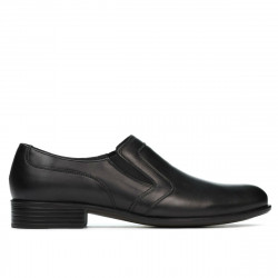 Men stylish, elegant, casual shoes 903 black