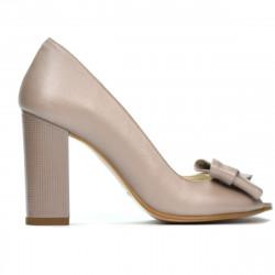 Women sandals 1271 cappuccino pearl