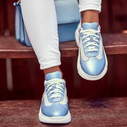 Pantofi sport dama 6015 bleu sidef combinat