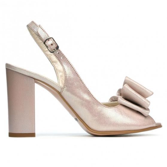 Sandale dama 1256 pudra satinat