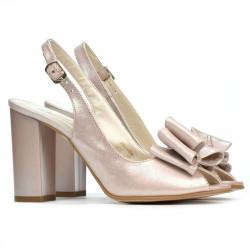 Women sandals 1256 pudra satinat
