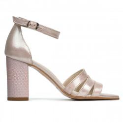 Sandale dama 1277 pudra satinat