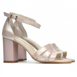 Women sandals 1277 pudra satinat