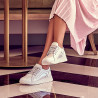 Pantofi sport/casual dama 6010 alb sidef combinat lifestyle