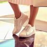 Pantofi sport/casual dama 6010 alb sidef combinat