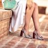 Sandale dama 1256 bordo floral multicolor lifestyle