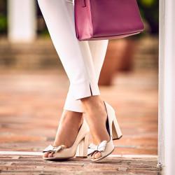 Women sandals 1271 beige pearl
