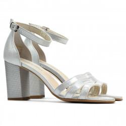 Women sandals 1277 silver satinat