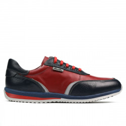 Teenagers stylish, elegant shoes 374 indigo+red