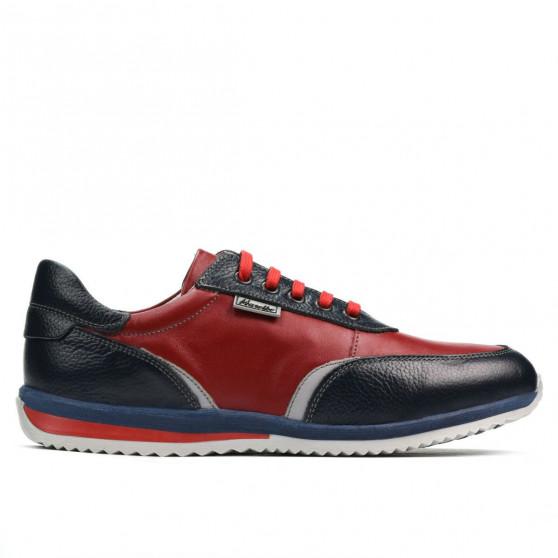 Teenagers stylish, elegant shoes 374 indigo+red