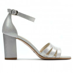 Women sandals 1277 silver satinat