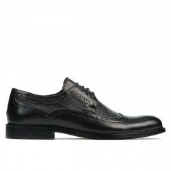Men stylish, elegant shoes 904 black