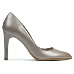 Women stylish, elegant shoes 1276 cappuccino pearl