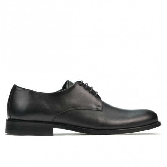 Men stylish, elegant shoes 905 black