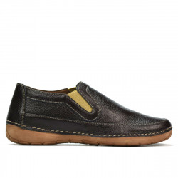 Women loafers, moccasins 6000s cafe
