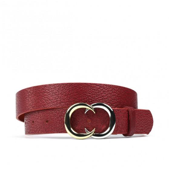 Women belt 12m biz red