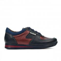 Pantofi copii 2002 indigo+bordo
