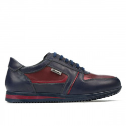 Teenagers stylish, elegant shoes 377 indigo+bordo