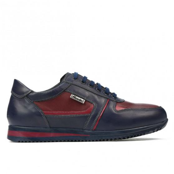 Teenagers stylish, elegant shoes 377 indigo+bordo