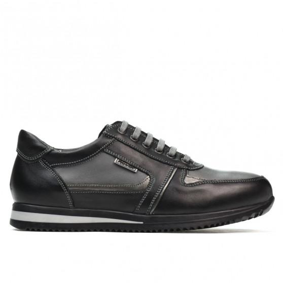 Pantofi adolescenti 377 negru+gri