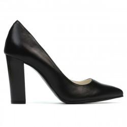 Women stylish, elegant shoes 1261 black satinat