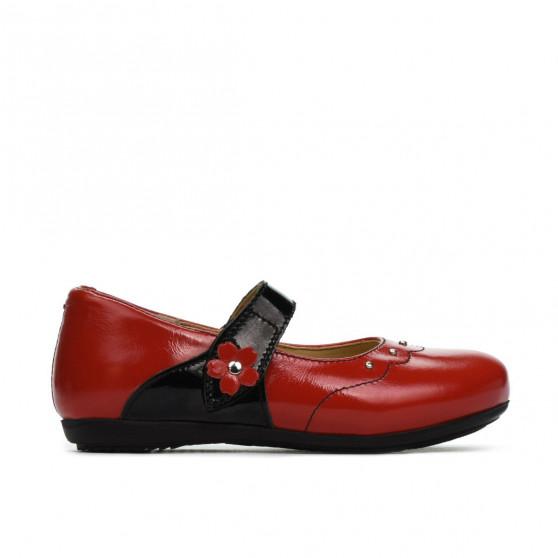 Pantofi copii mici 68c lac rosu combinat
