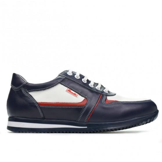 Pantofi sport adolescenti 377 indigo+alb
