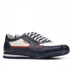 Teenagers stylish, elegant shoes 377 indigo+white