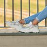Pantofi sport dama 6015 alb sidef combinat lifestyle