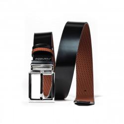 Men belt 36b black+brown presat (bicolored)