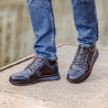 Men casual shoes 4110 indigo+black
