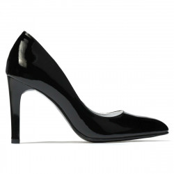 Women stylish, elegant shoes 1276 patent black