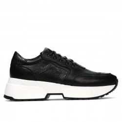 Women sport shoes 6019 black combined