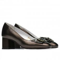 Women stylish, elegant shoes 1274 brown pearl